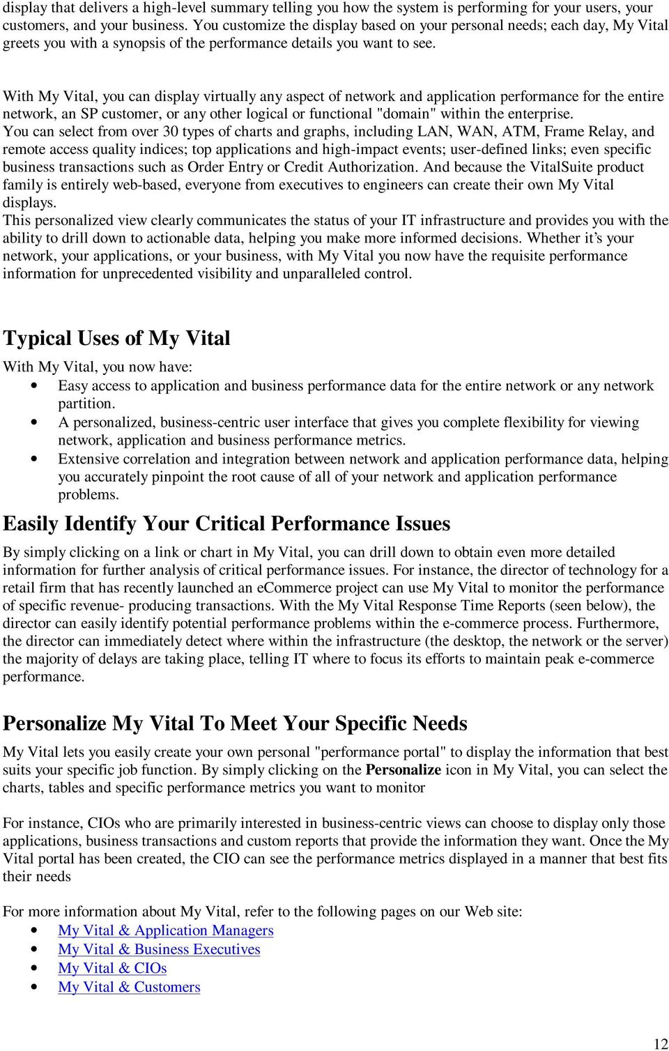 Customer Tool Kit Recommendations From Choice One Communications Pdf Next Diagram2 You Will See A Daily Graph That Allows To Monitor With My Vital Can Display Virtually Any Aspect Of Network And Application Performance For