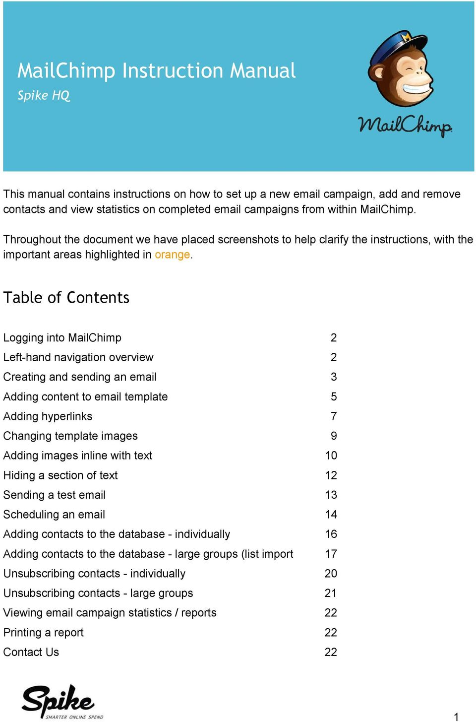 Mailchimp Instruction Manual Pdf