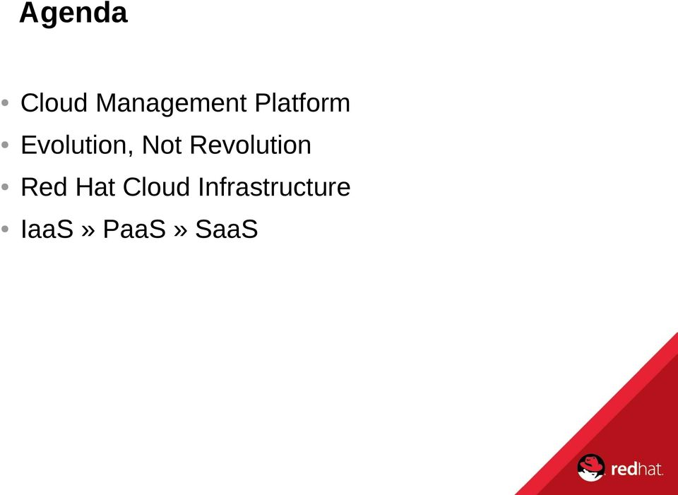 Revolution Red Hat Cloud