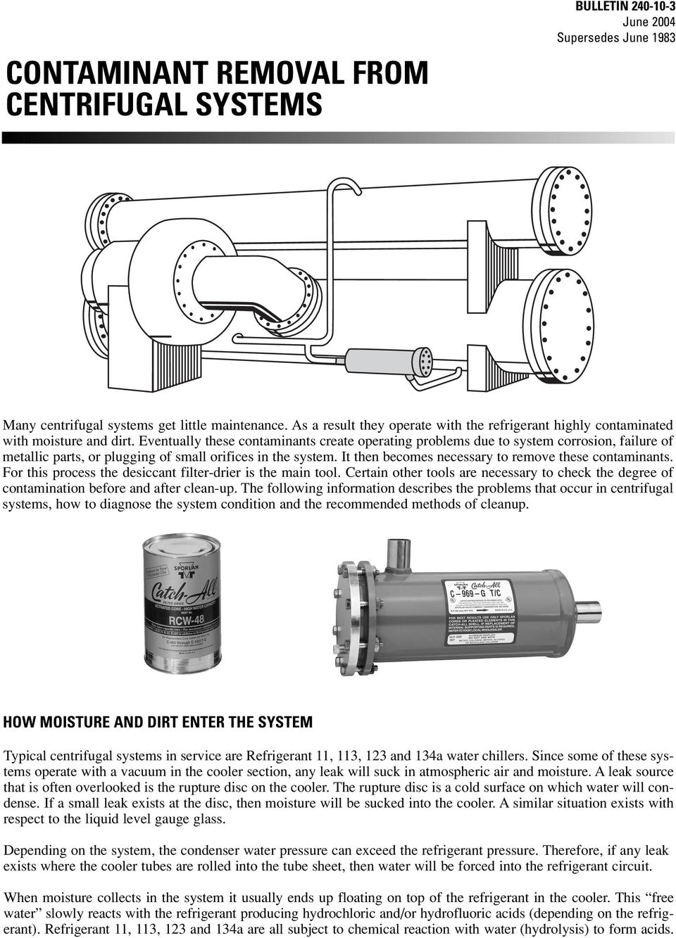 CONTAMINANT REMOVAL FROM CENTRIFUGAL SYSTEMS - PDF
