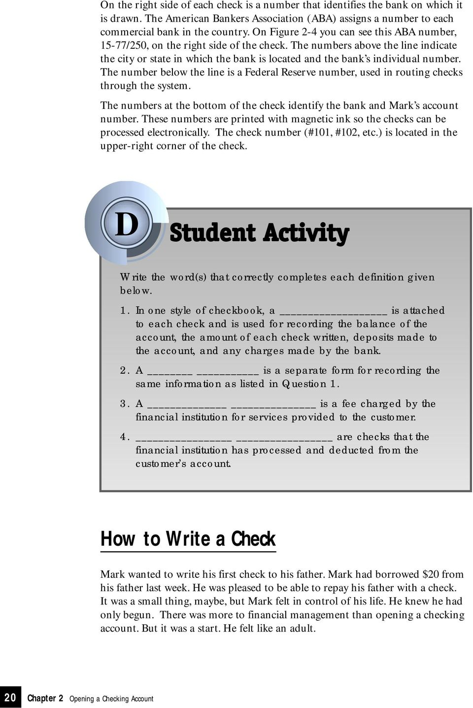 opening a checking account - pdf