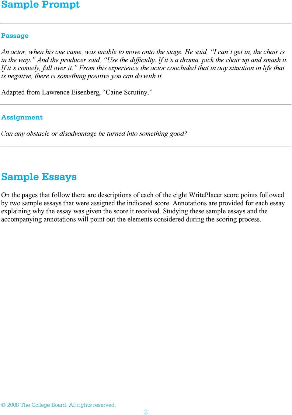 Writeplacer guide with sample essays pdf