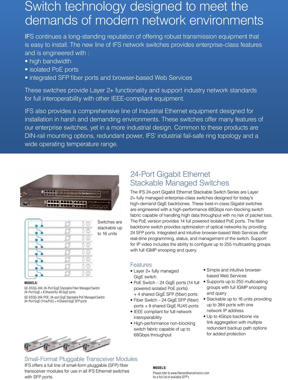 Your Single Source For Network Transmission Solutions Pdf Poweroverethernet Poe On Industrialbased Networking Fig 2 Switches Provide Layer Functionality And Support Industry Standards Full Interoperability With Other