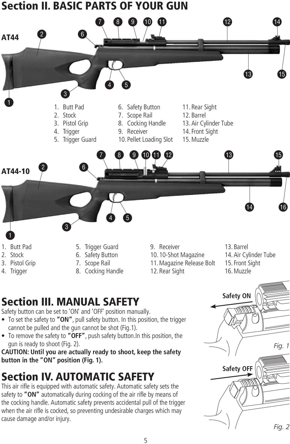 HATSAN ARMS COMPANY  AT44 & AT44-10 Series PCP Air Rifle INSTRUCTION
