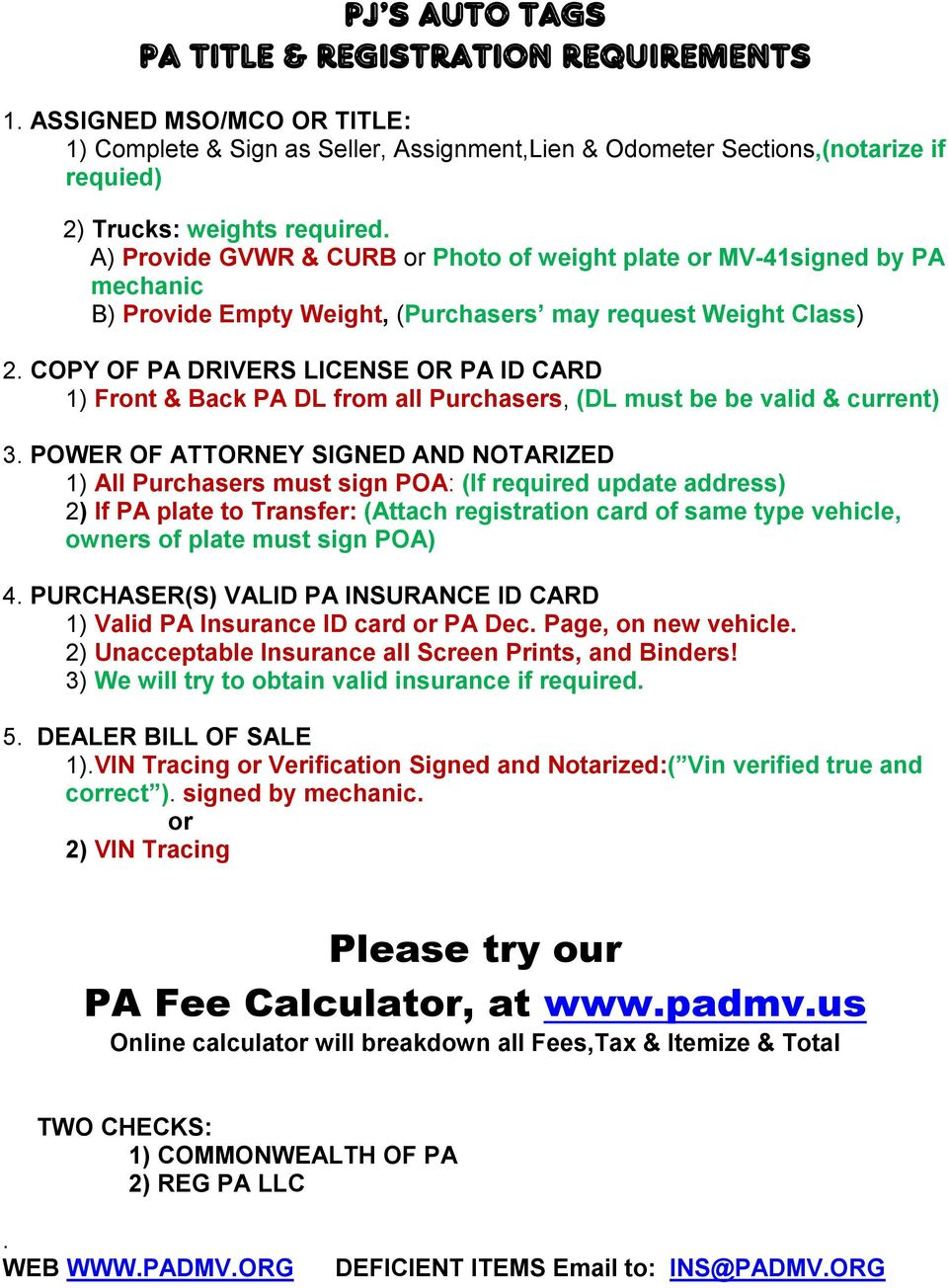 pj s auto tags a pa dmv location pdf