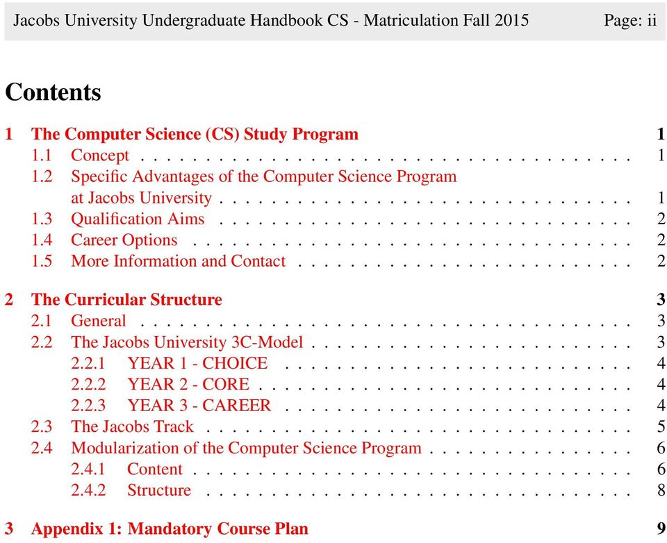 Study Program Handbook Computer Science - PDF