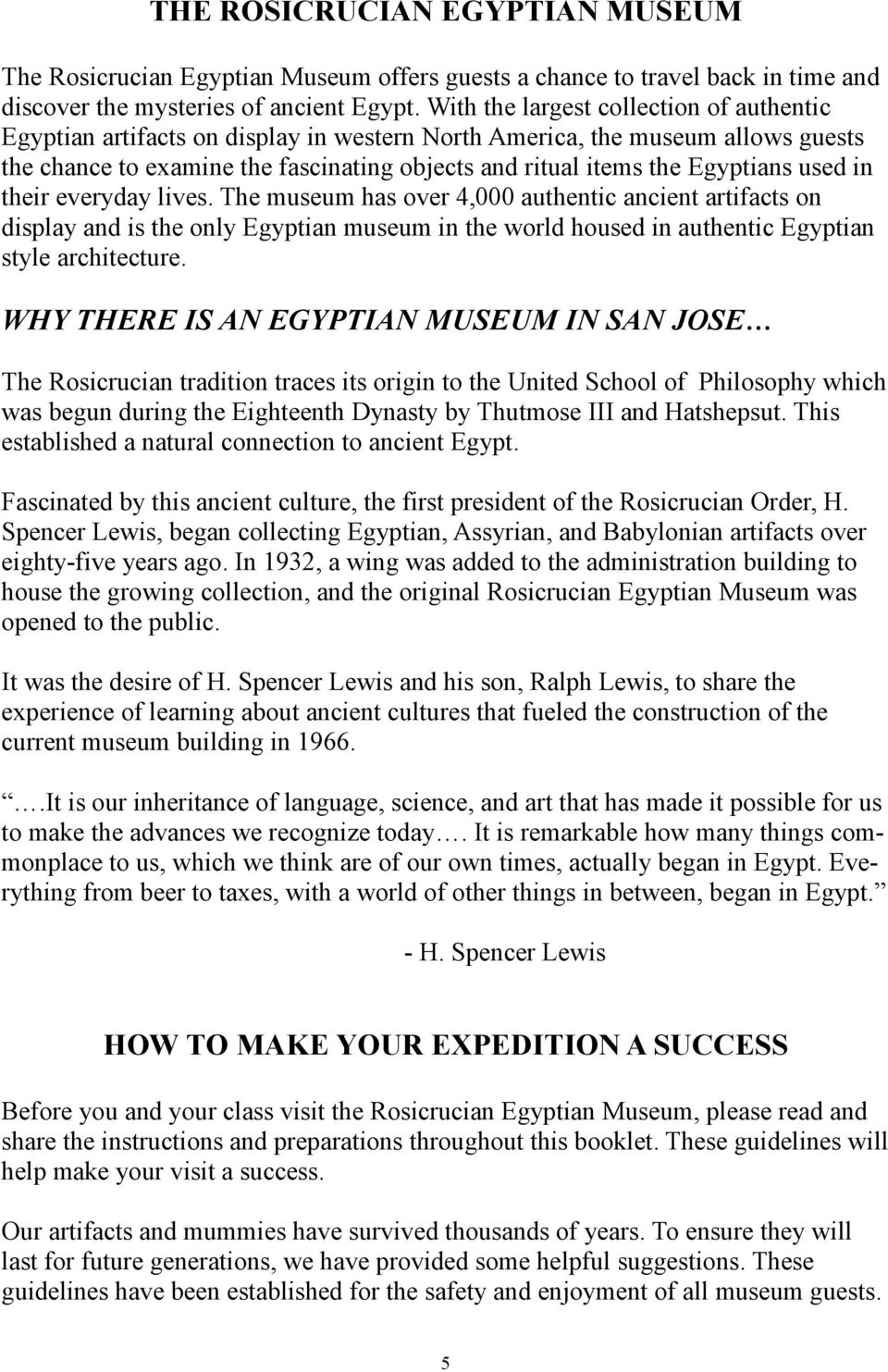 A JOURNEY THROUGH ANCIENT EGYPT MUSEUM EXPEDITION DESCRIPTION - PDF