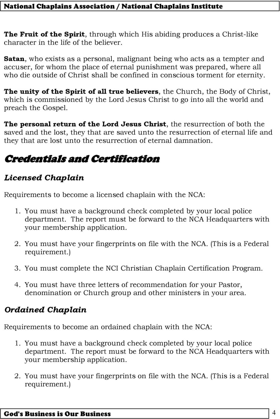Become A Certified Christian Chaplain Pdf