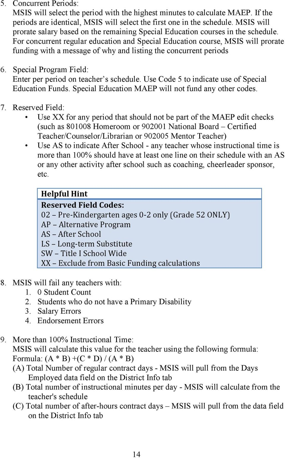 Msis Special Education Manual Pdf
