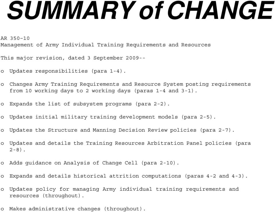 Management Of Army Individual Training Requirements And Resources Pdf