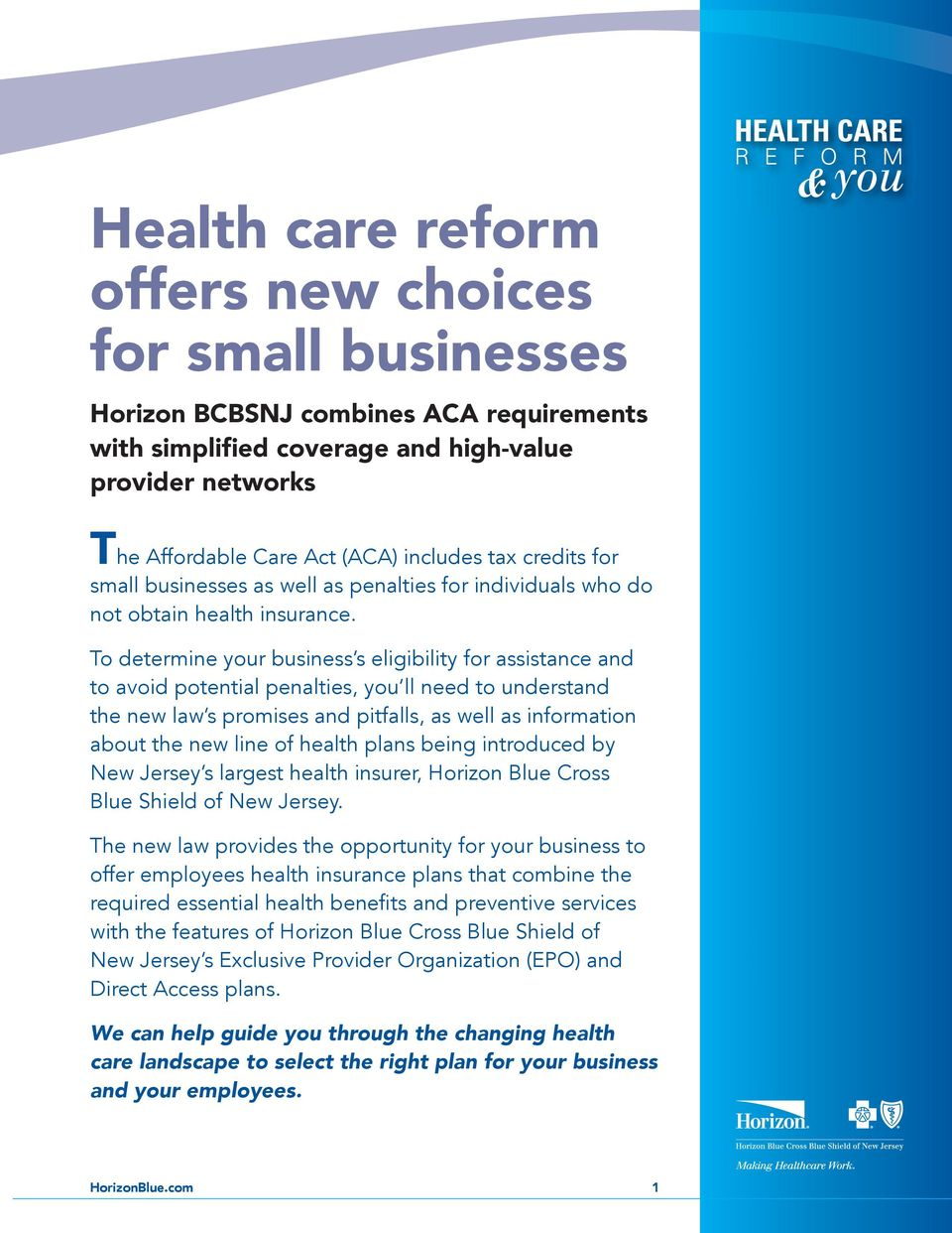 What You Need to Know About Health Care Reform - PDF