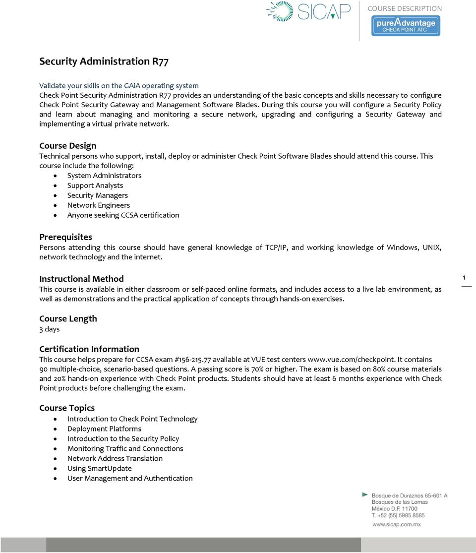 Security Administration R77 - PDF