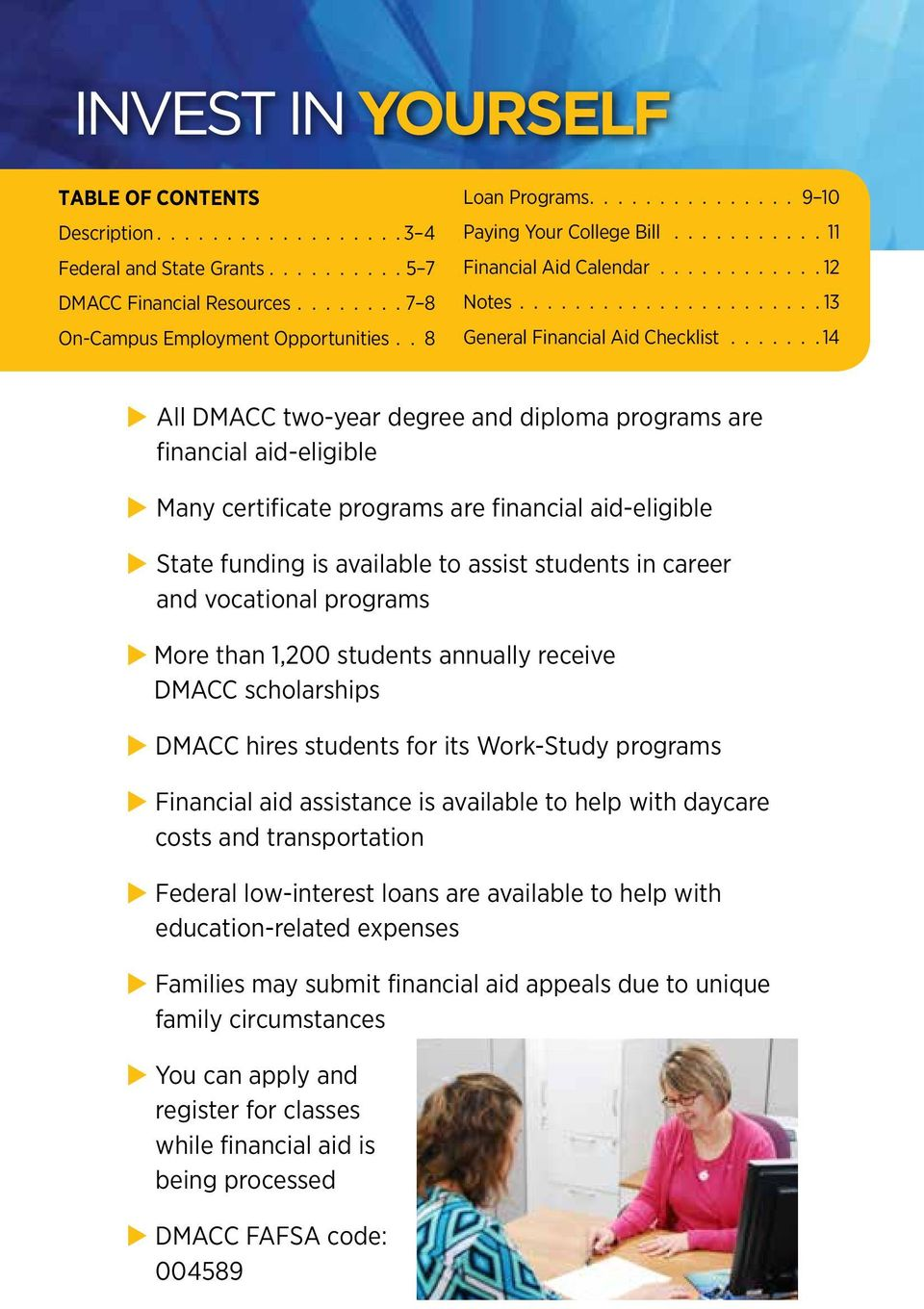 FINANCING YOUR EDUCATION AT DMACC - PDF