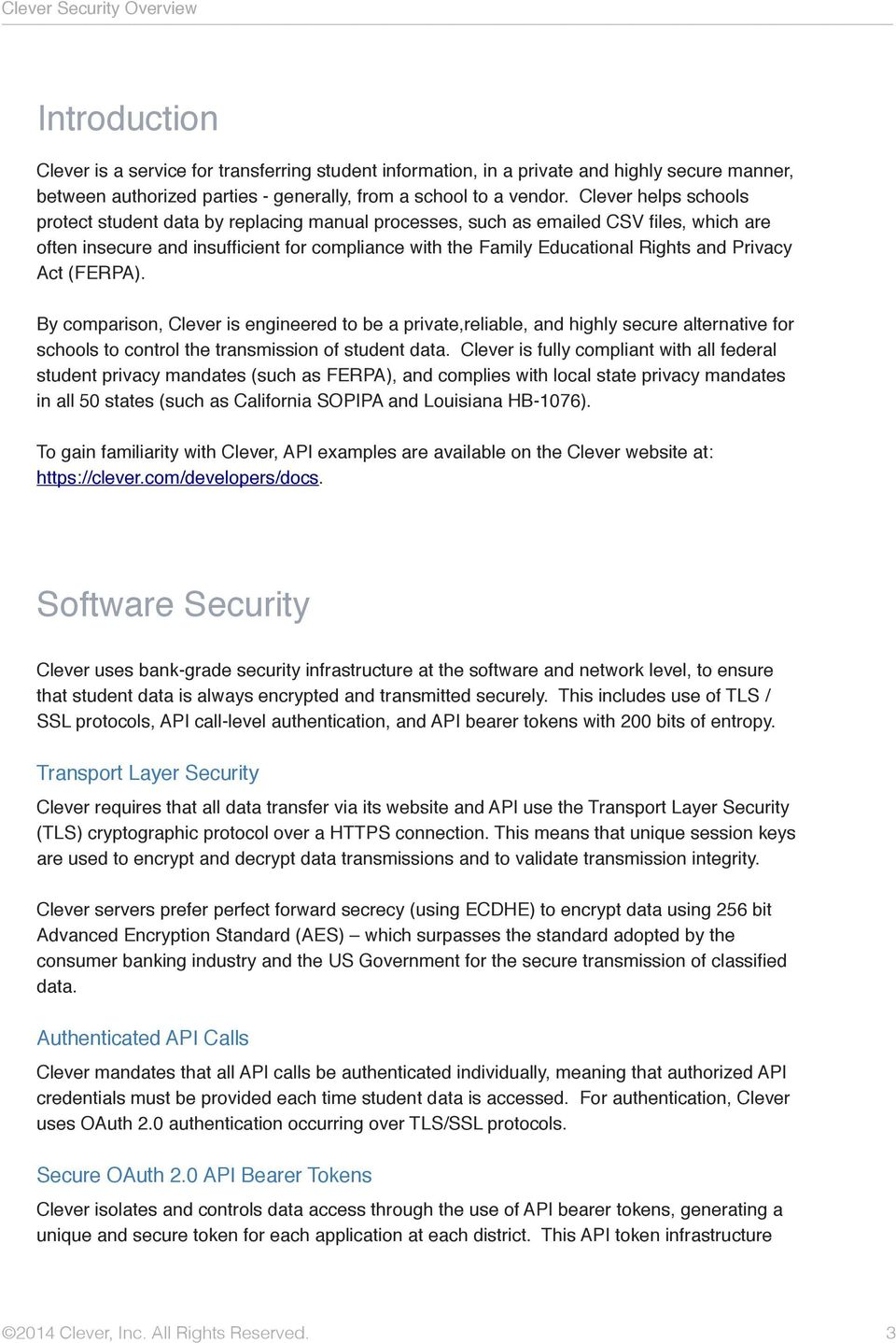 Clever Security Overview - PDF