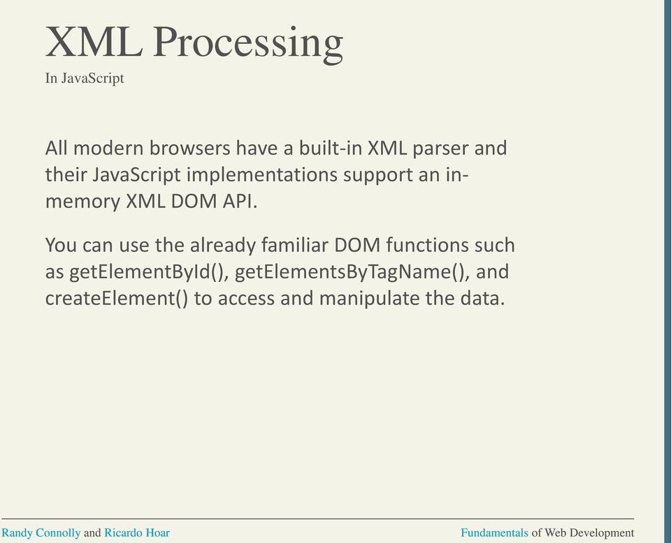 XML Processing and Web Services  Chapter 17 - PDF
