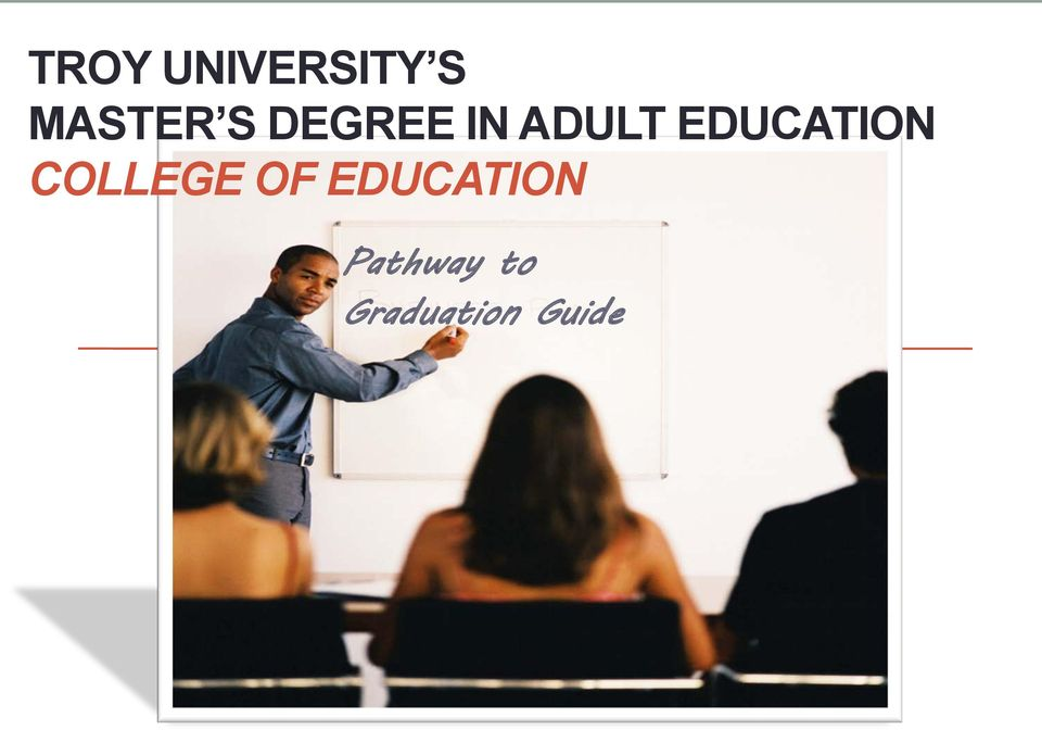 Me? think, Master degree in adult education