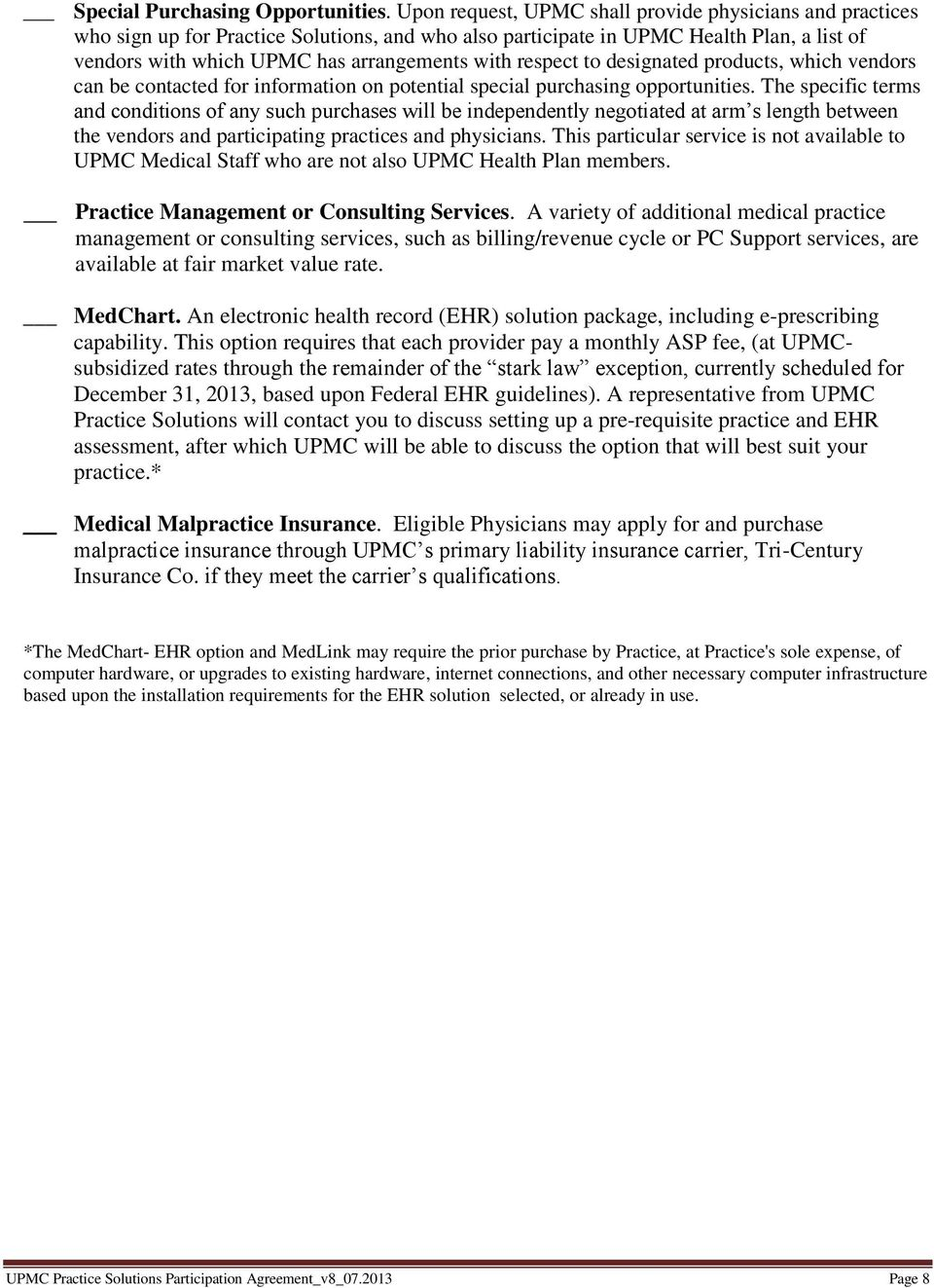 Upmc Practice Solutions Participation Agreement Pdf
