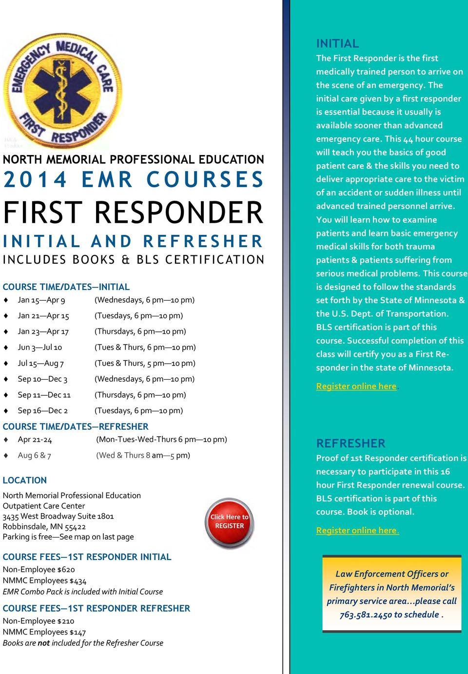 Professional Education Course Catalog Table Of Contents Pdf