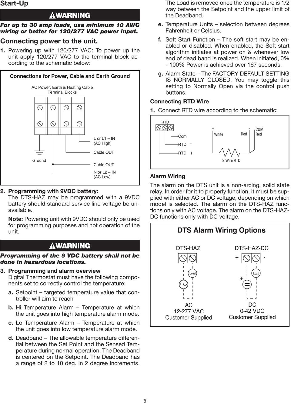 Dts Haz Dc Installation Instructions For Use With Self 277vac Wiring 0 277 Vac Power Input Connecting To The Unit 1