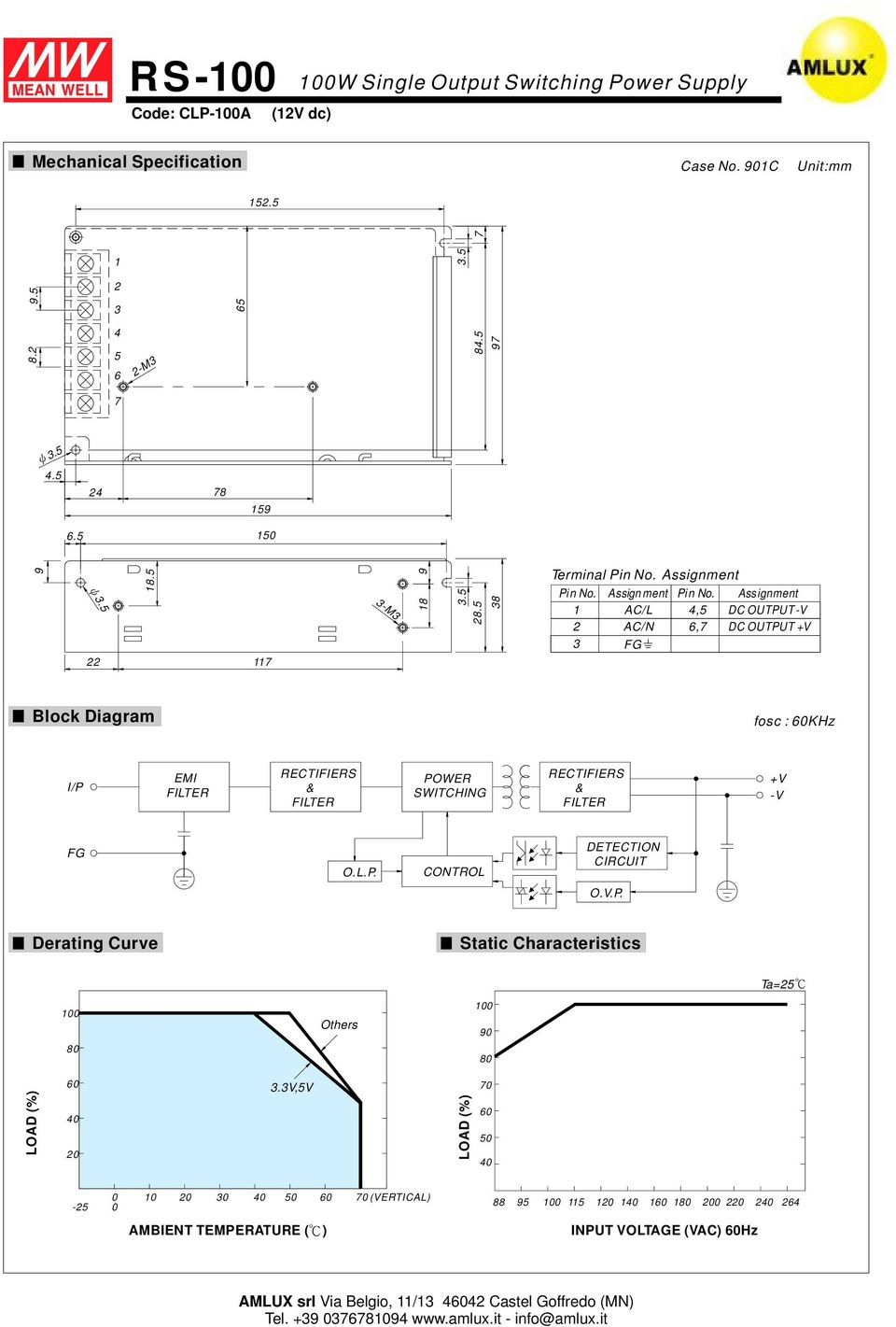 Single Output Switching Power Supply Pdf Block Diagram Dc Assignment Ac L N 67 V