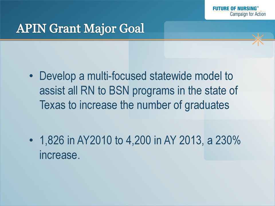 Texas to increase the number of graduates