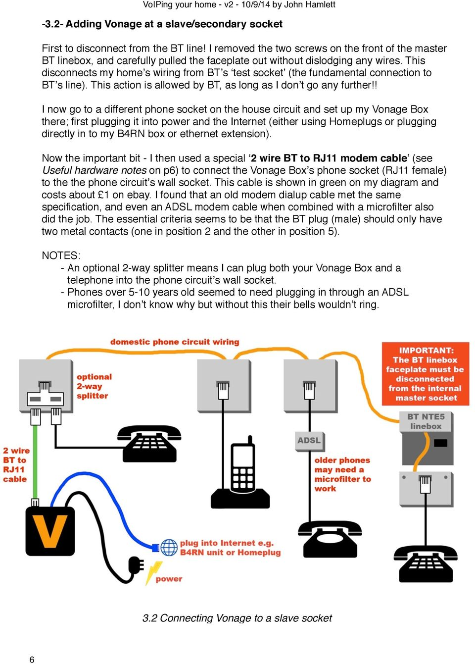 An Unofficial Guide To Setting Up Vonage Voip On B4rn And Notes Socket Circuit Diagram Bt Phone Wiring Master This Disconnects My Homes From Bts Test The Fundamental Connection Line