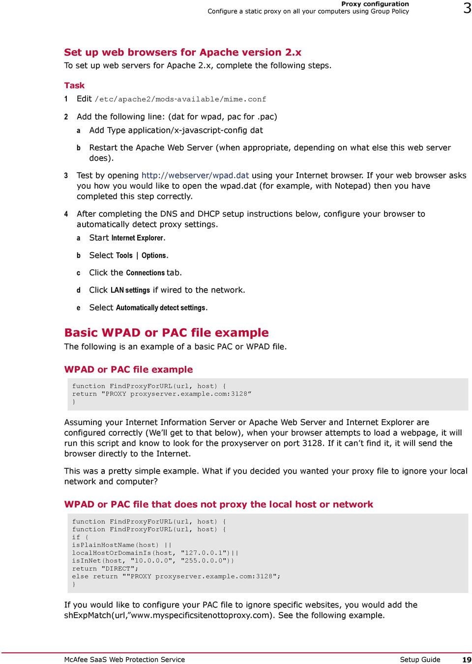 Setup Guide Revision C  McAfee SaaS Web Protection Service - PDF