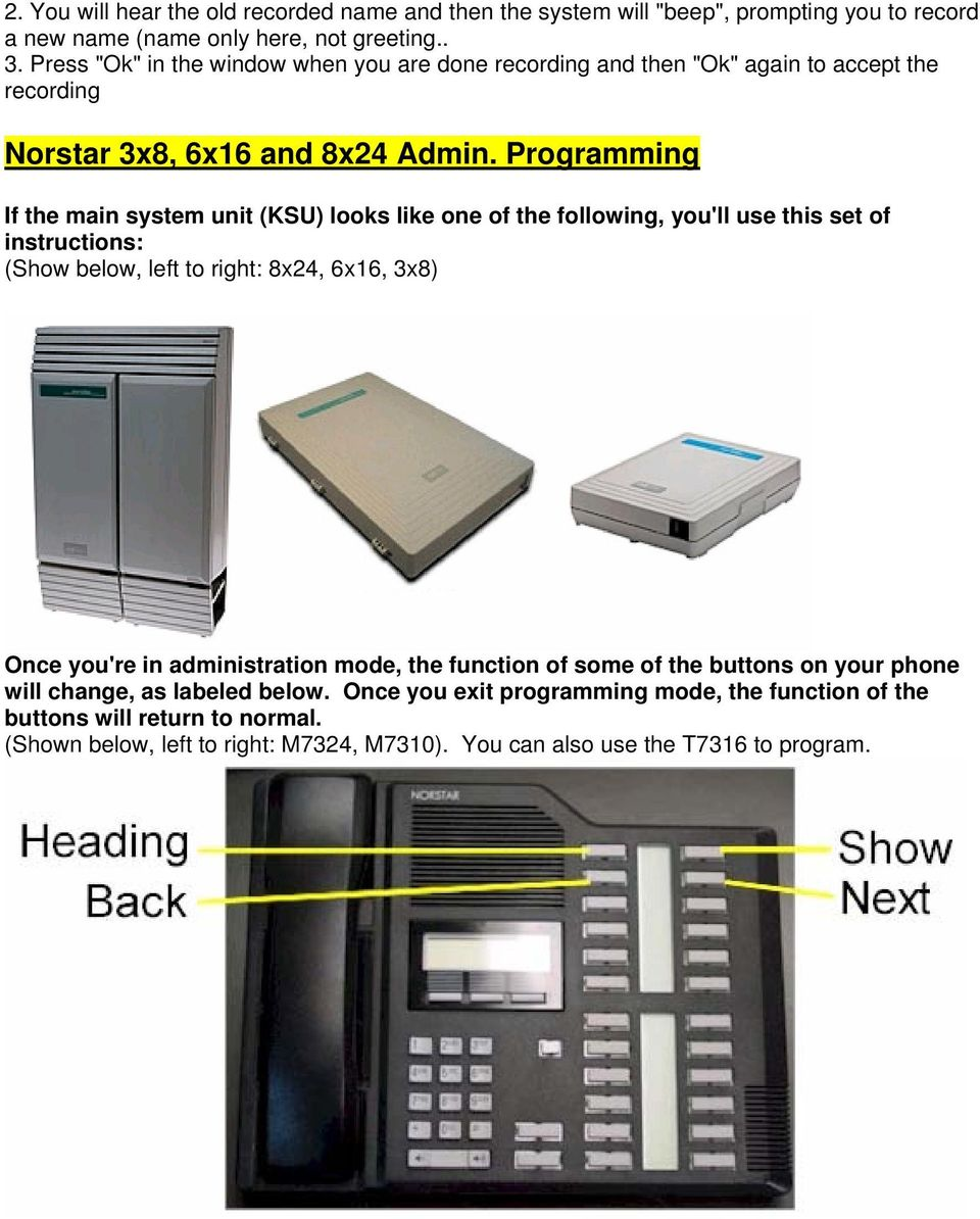 Norstar Programming Feature Codes - PDF