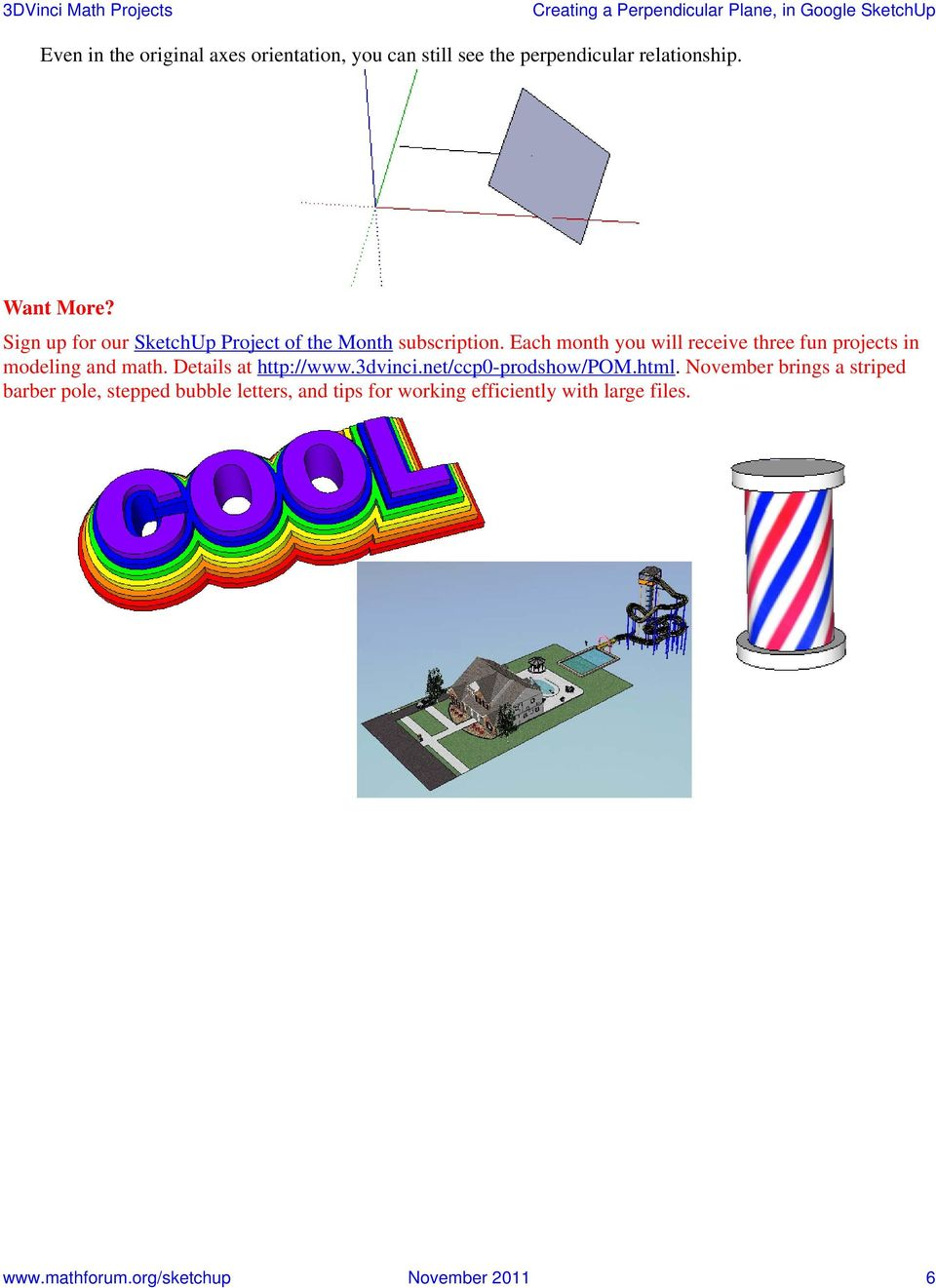 Creating a Perpendicular Plane, in Google SketchUp - PDF