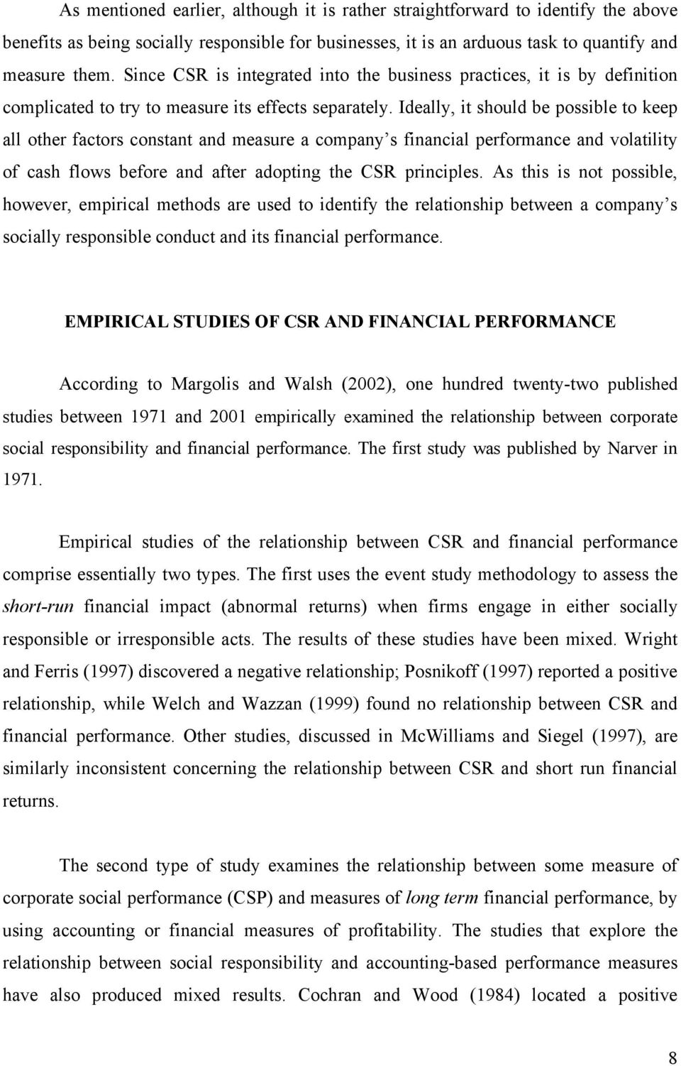 relationship between corporate social responsibility and profitability