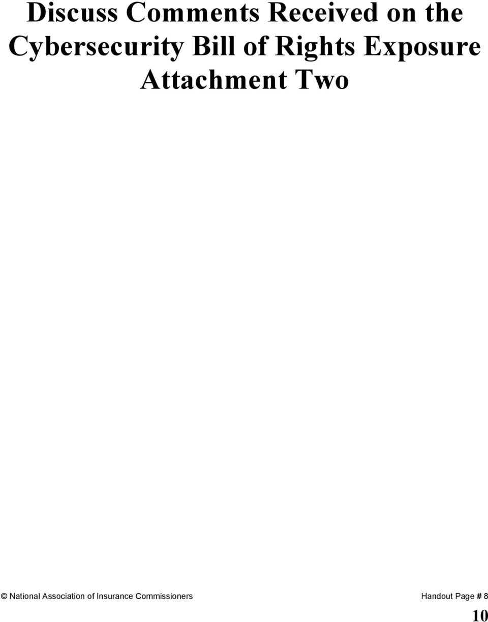 Attachment Two National Association of