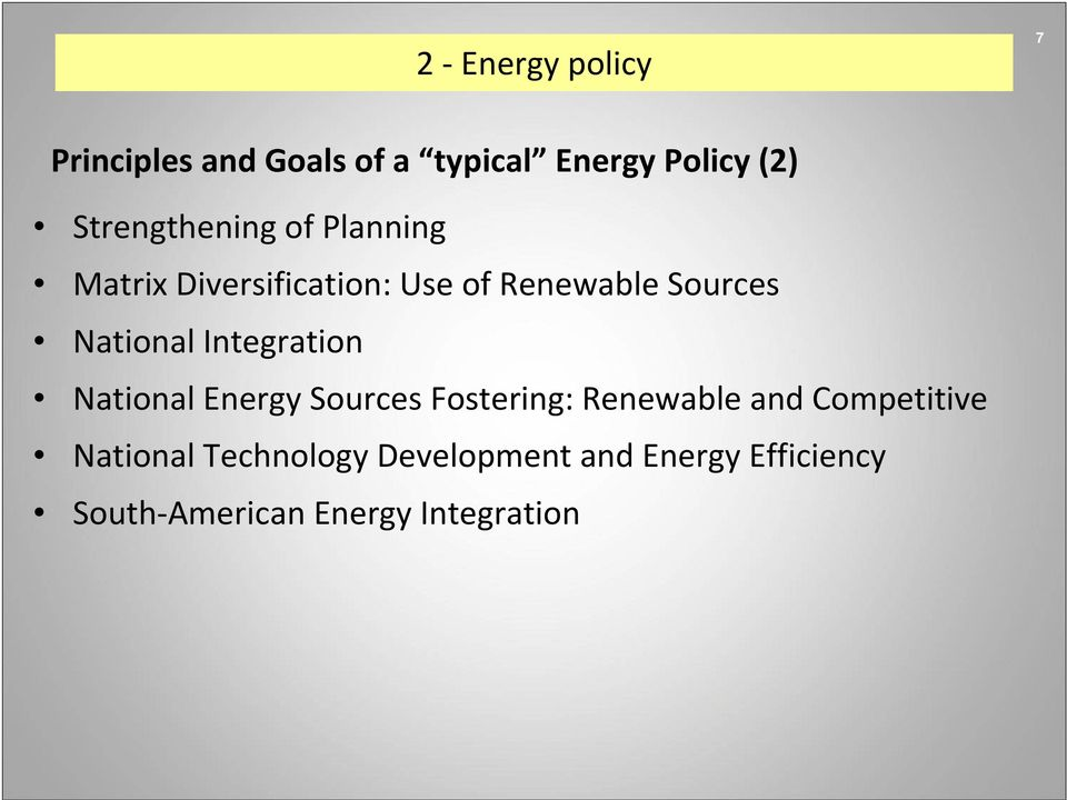 National Integration National Energy Sources Fostering: Renewable and