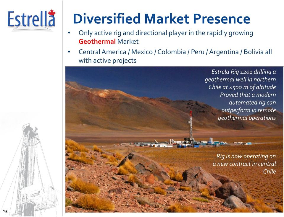 drilling a geothermal e well in northern ot Chile at 4500 m of altitude Proved that a modern automated rig