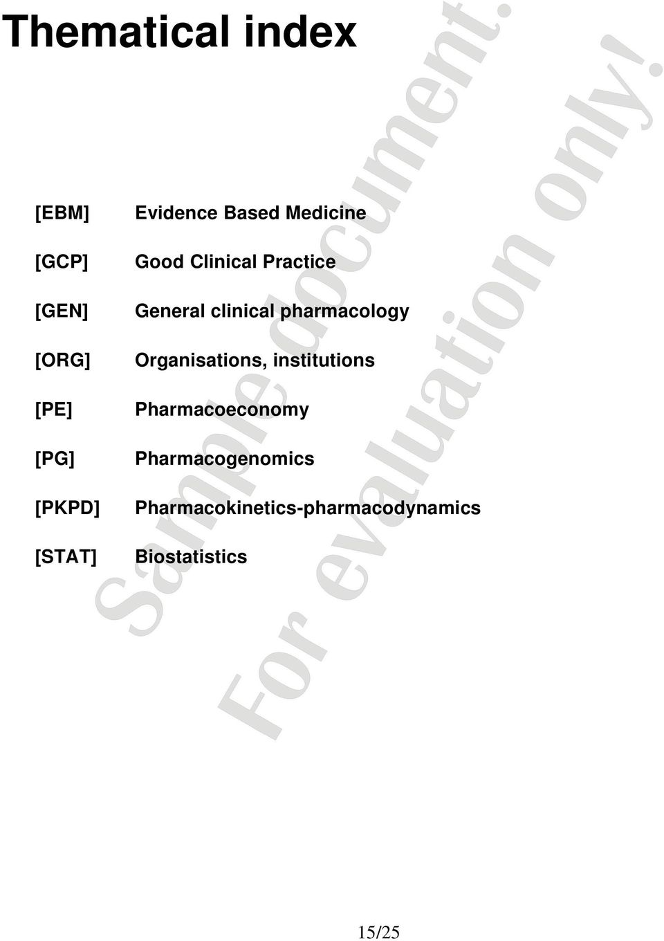 clinical pharmacology Organisations, institutions