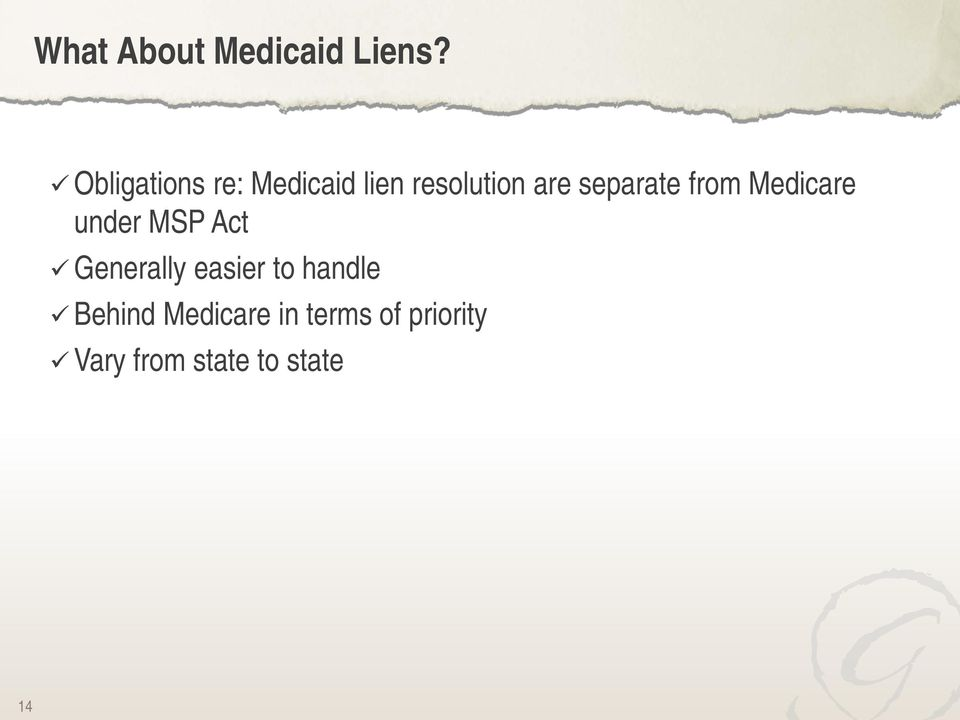 separate from Medicare under MSP Act Generally