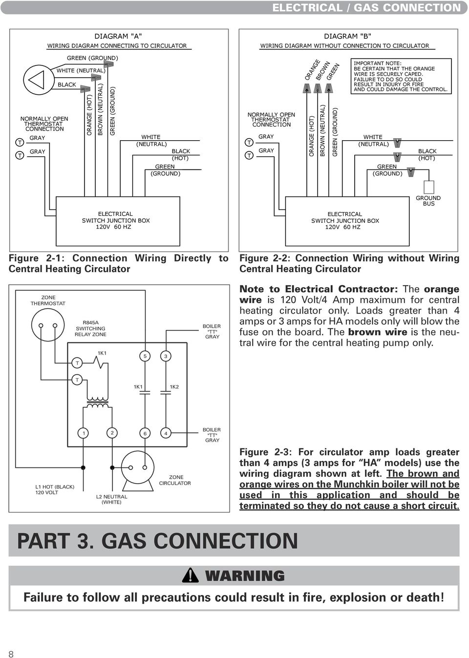 Munchkin Boiler Wiring Amptec Diagram Brown Neutral Green Ground Important Note Be Certain That The Orange 960x1347