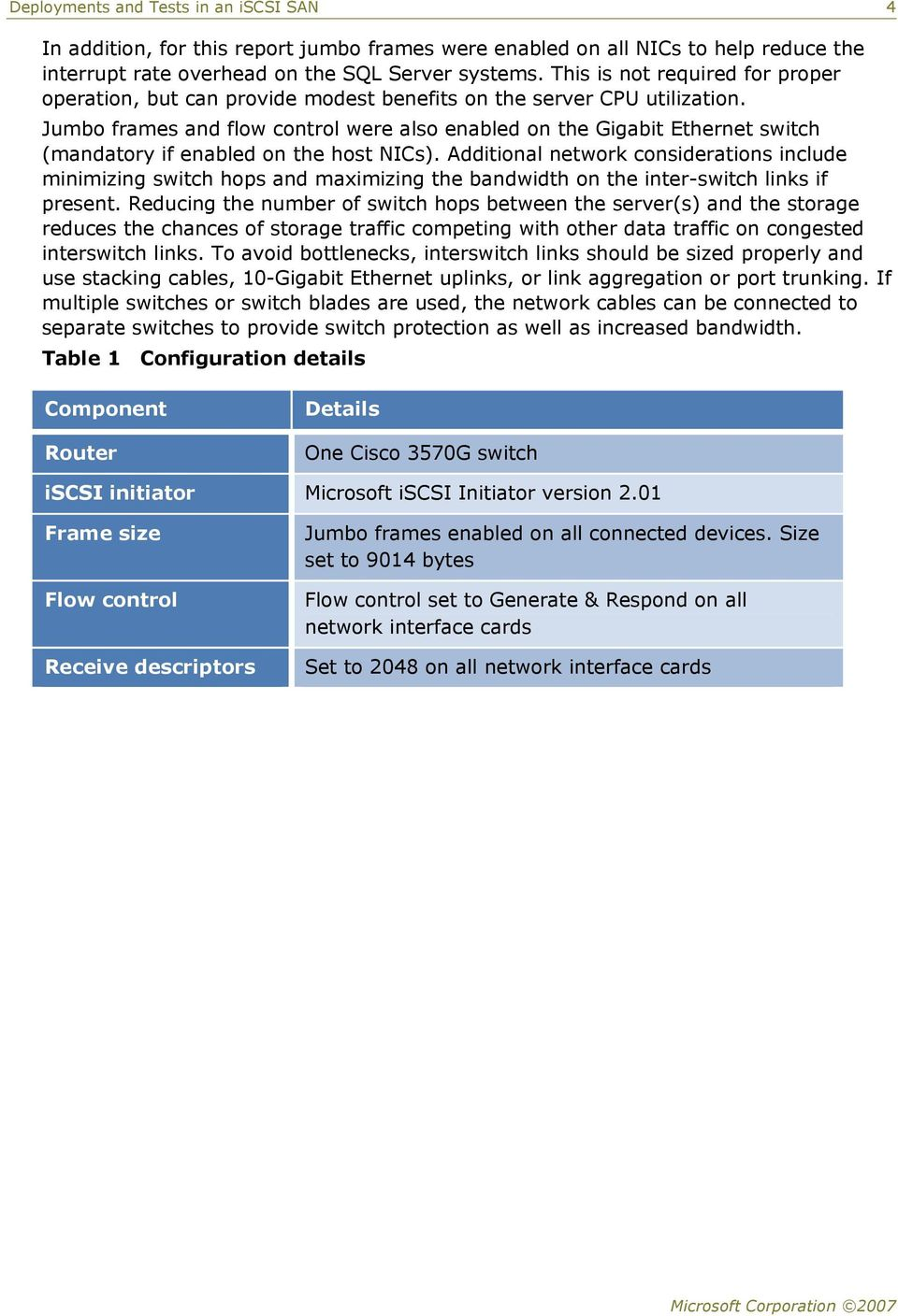 Deployments and Tests in an iscsi SAN - PDF
