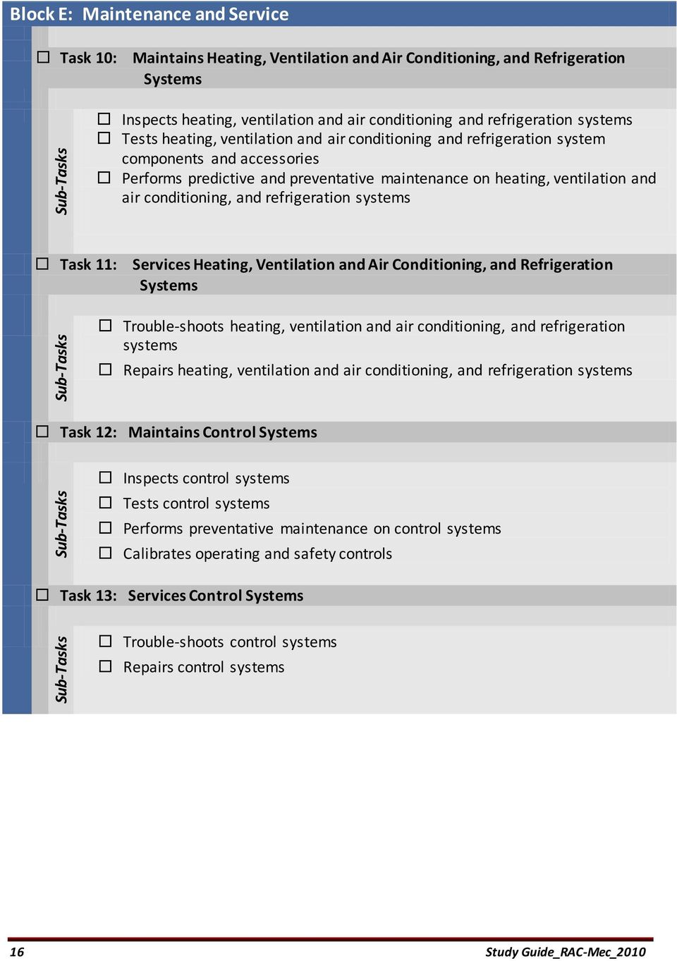 conditioning, and refrigeration systems Task 11: Services Heating,  Ventilation and Air Conditioning,