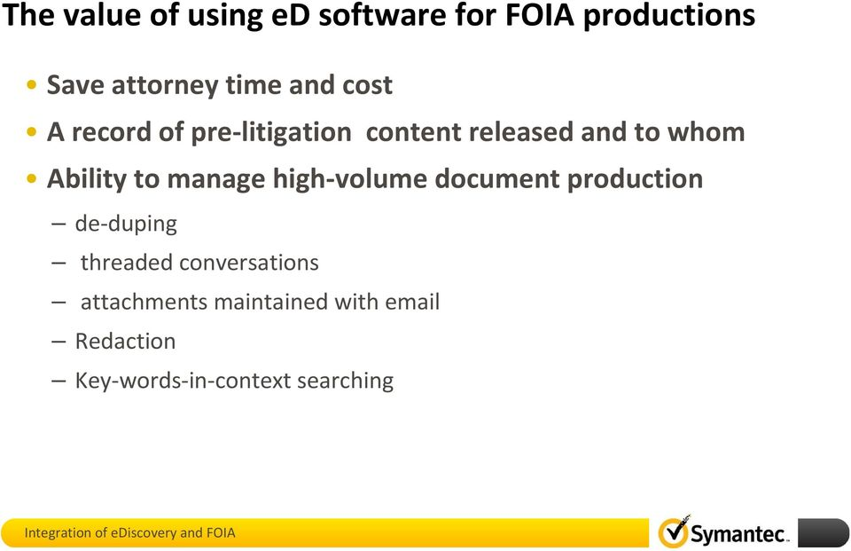 to manage high-volume document production de-duping threaded