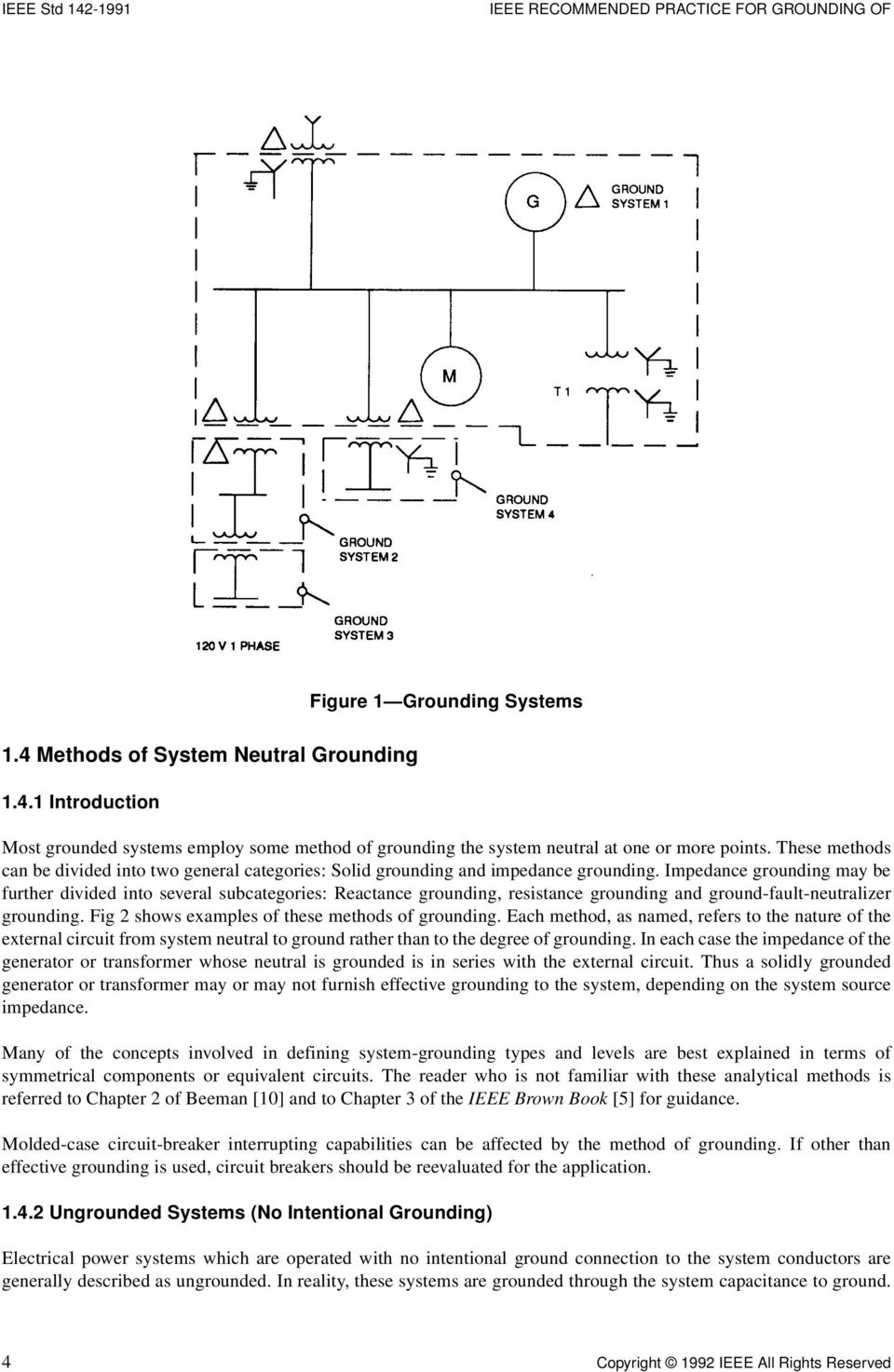 45 Transformer Connections Pdf Neutral Ground Resistor Schematic Impedance Grounding May Be Further Divided Into Several Subcategories Reactance Resistance And