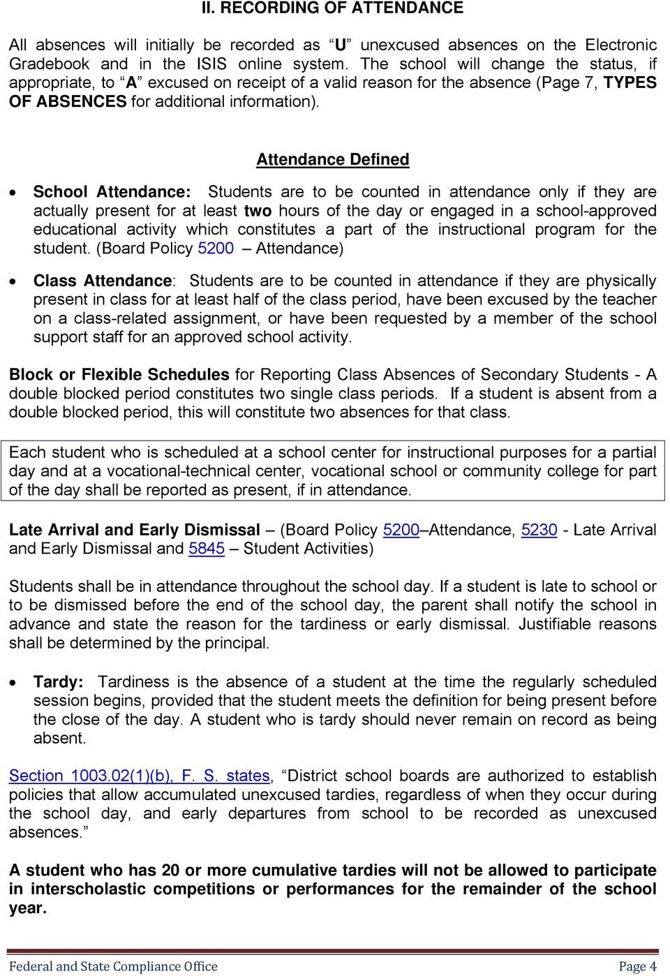 MIAMI-DADE COUNTY PUBLIC SCHOOLS Federal and State Compliance Office
