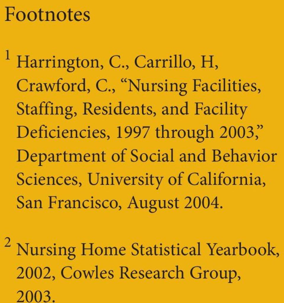 through 2003, Department of Social and Behavior Sciences, University of