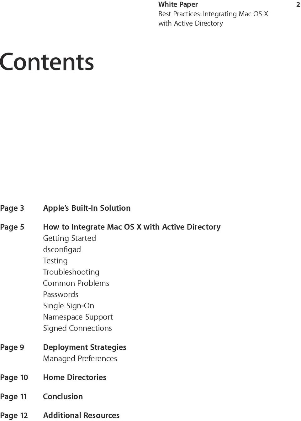 Best Practices: Integrating Mac OS X with Active Directory