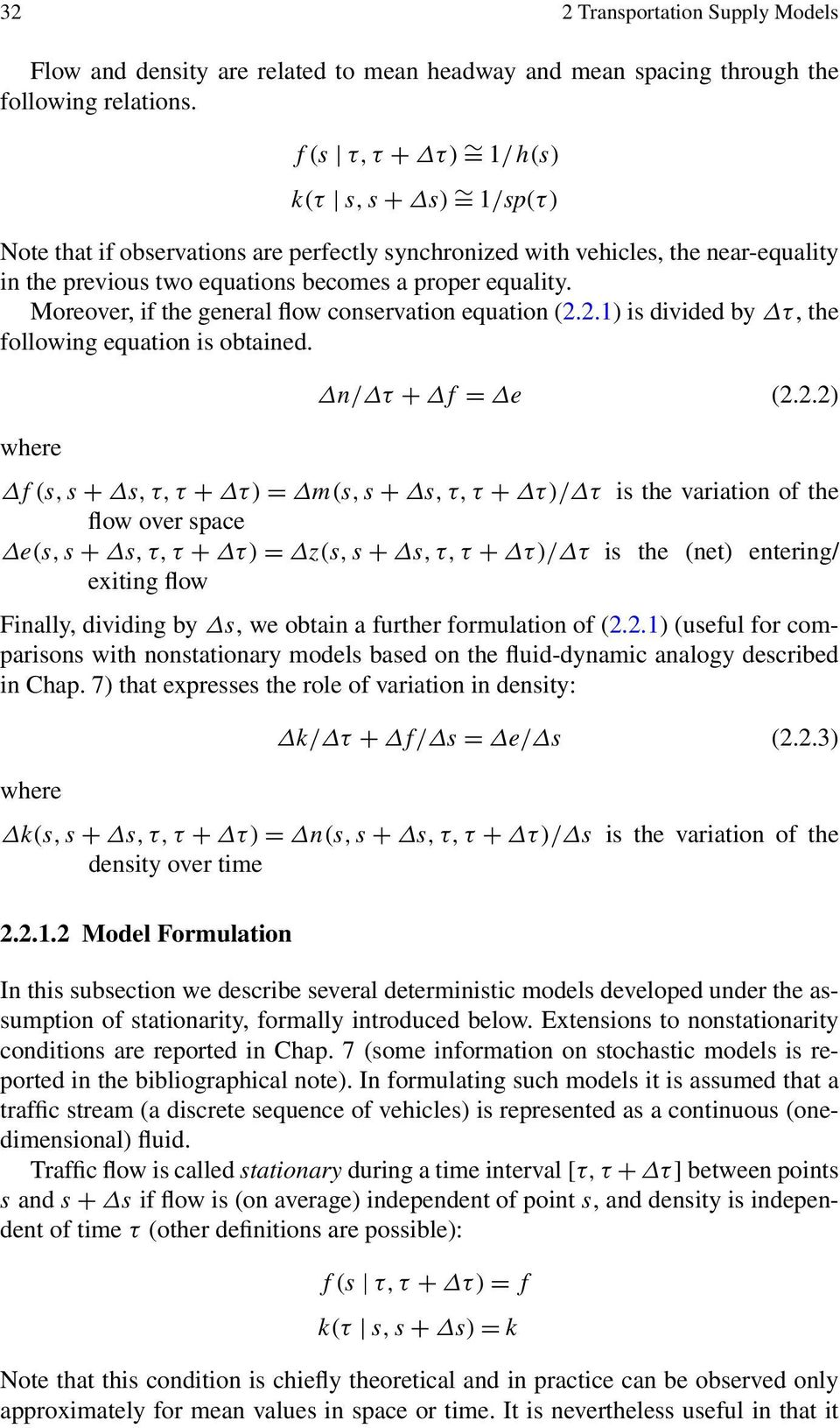 Moreover, if the general flow conservation equation (2.