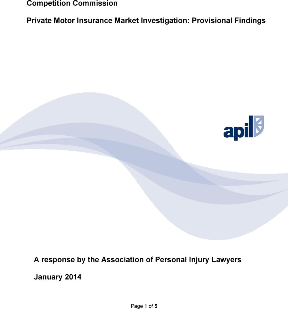 Provisional Findings A response by the