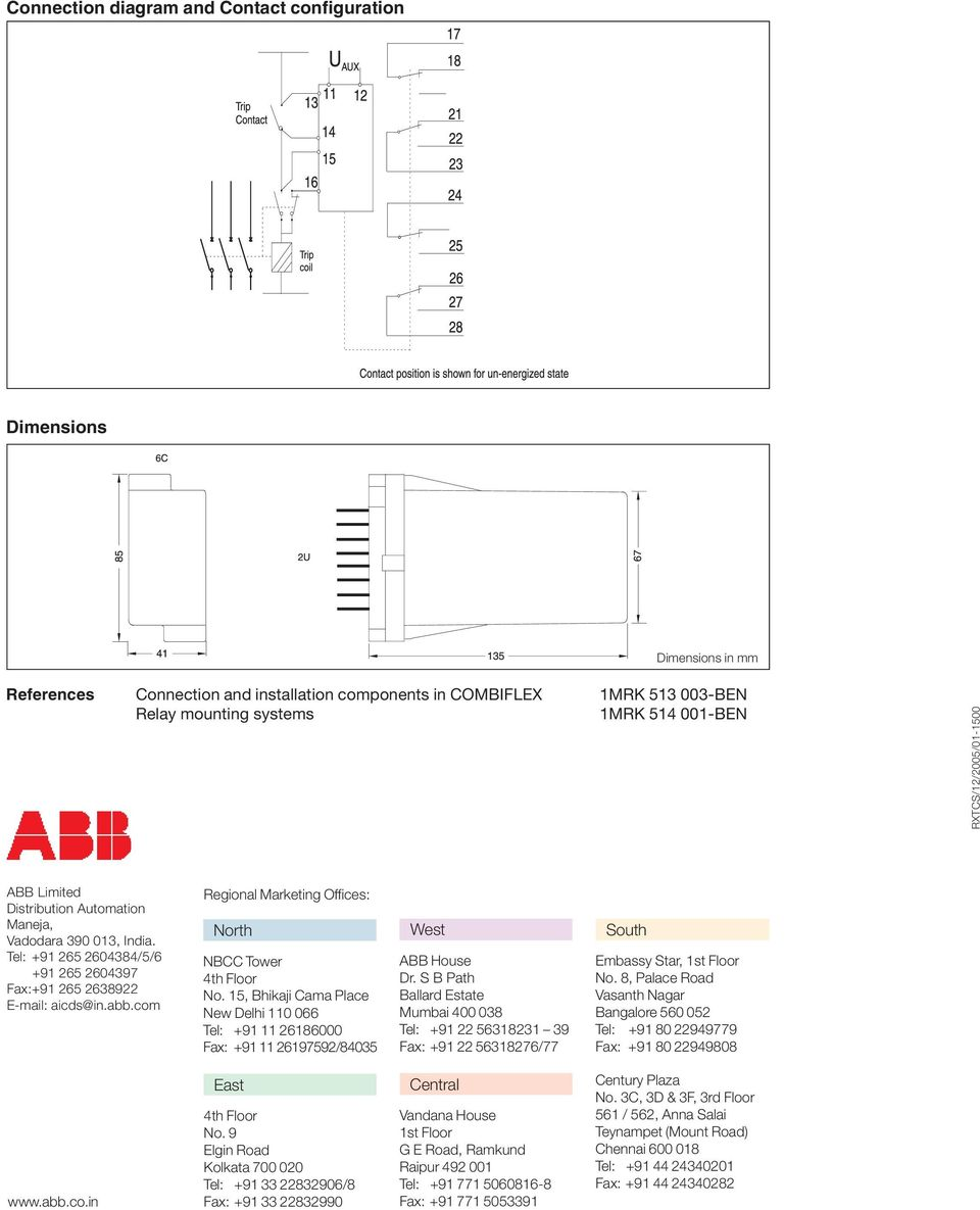 Abb Relay Latching Circuit Diagram Trusted Schematics Trip Supervision Type Rxtcs Pdf 12 Volt