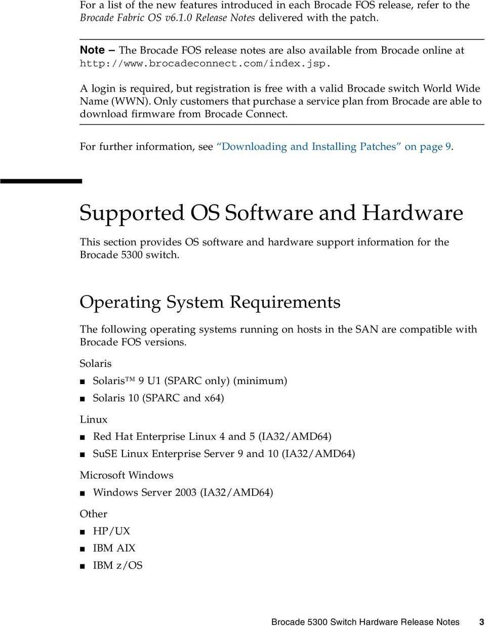 Brocade 5300 Switch Hardware Release Notes - PDF