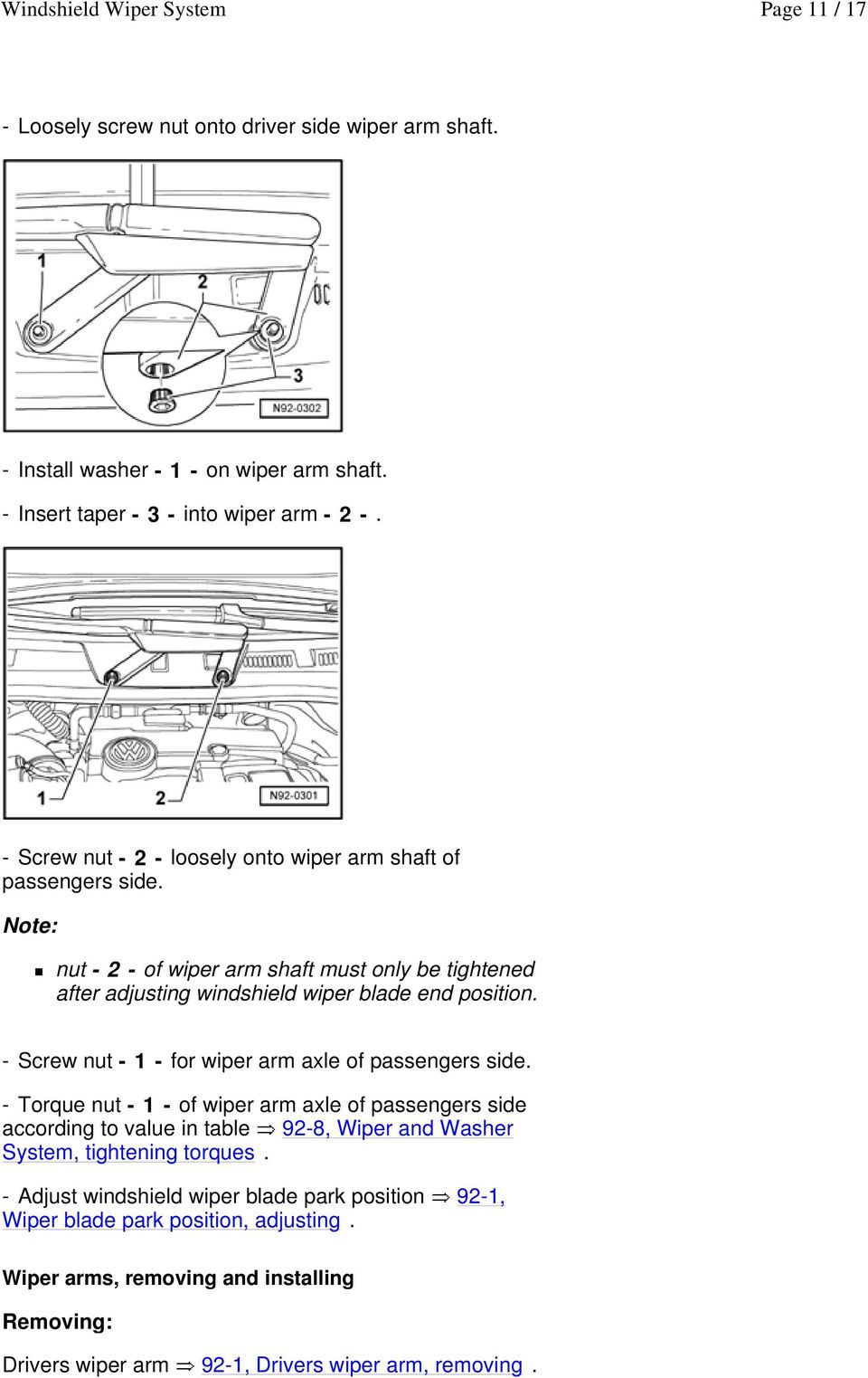 Windshield Wiper System Pdf. Screw Nut 1 For Wiper Arm Axle Of Passengers Side. Chevrolet. 1997 Chevrolet Suburban Windshield Washers Systems Diagrams At Scoala.co