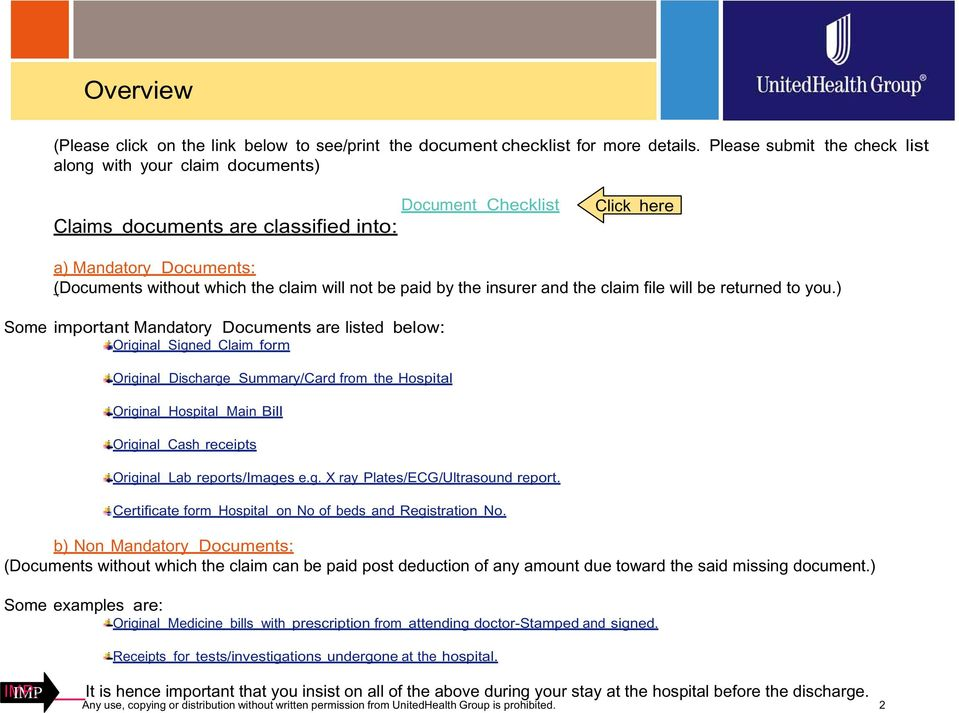 UnitedHealthcare India Claims Document Submission-Self
