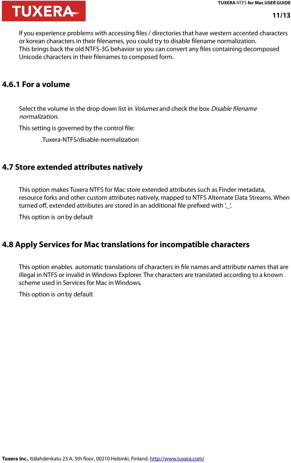 TUXERA NTFS for Mac USER GUIDE 2/13  Index - PDF